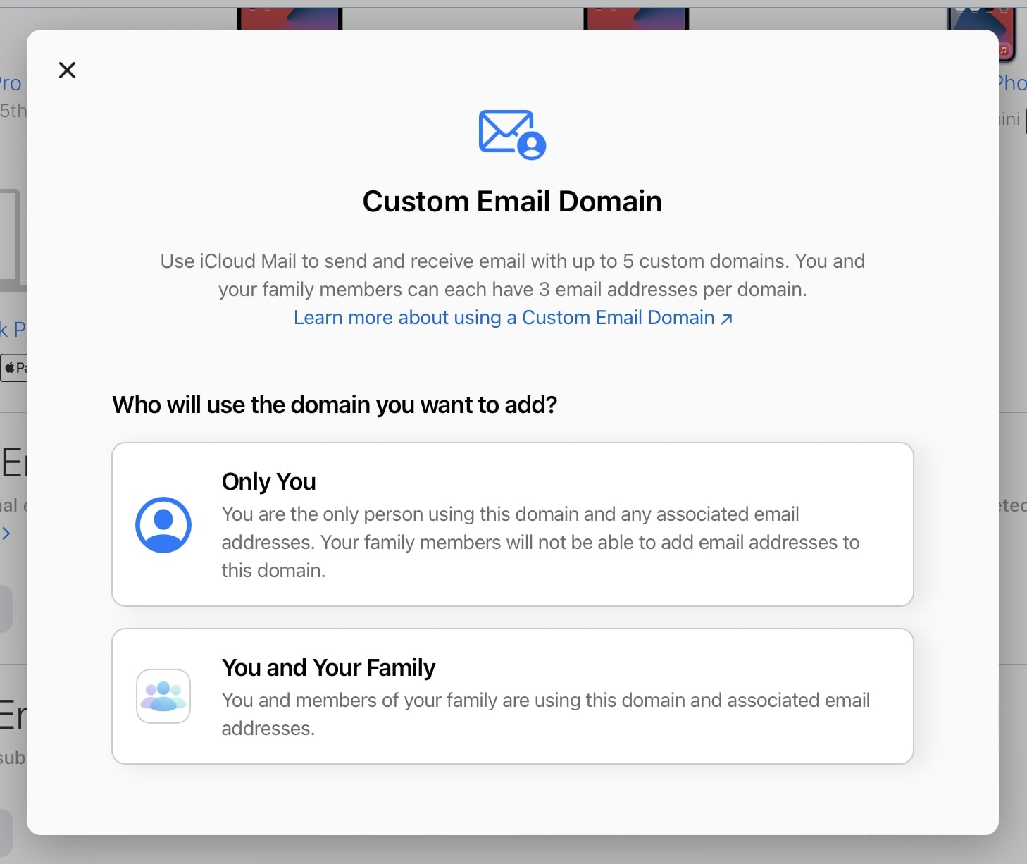 Start creating custom iCloud email domains today
