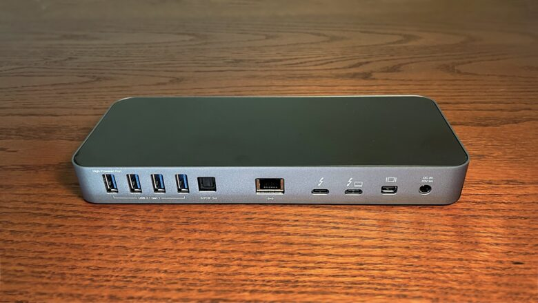 A majority of the OWC Thunderbolt 3 ports are on the back where their cables are less visible.