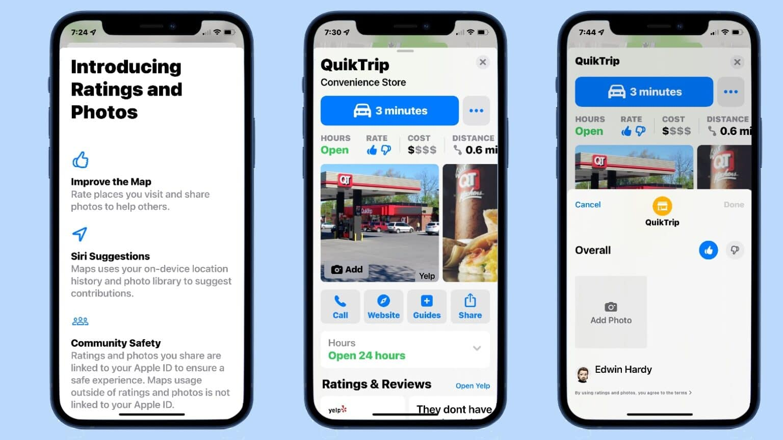 Apple Maps crowd-sourced business ratings reach the US