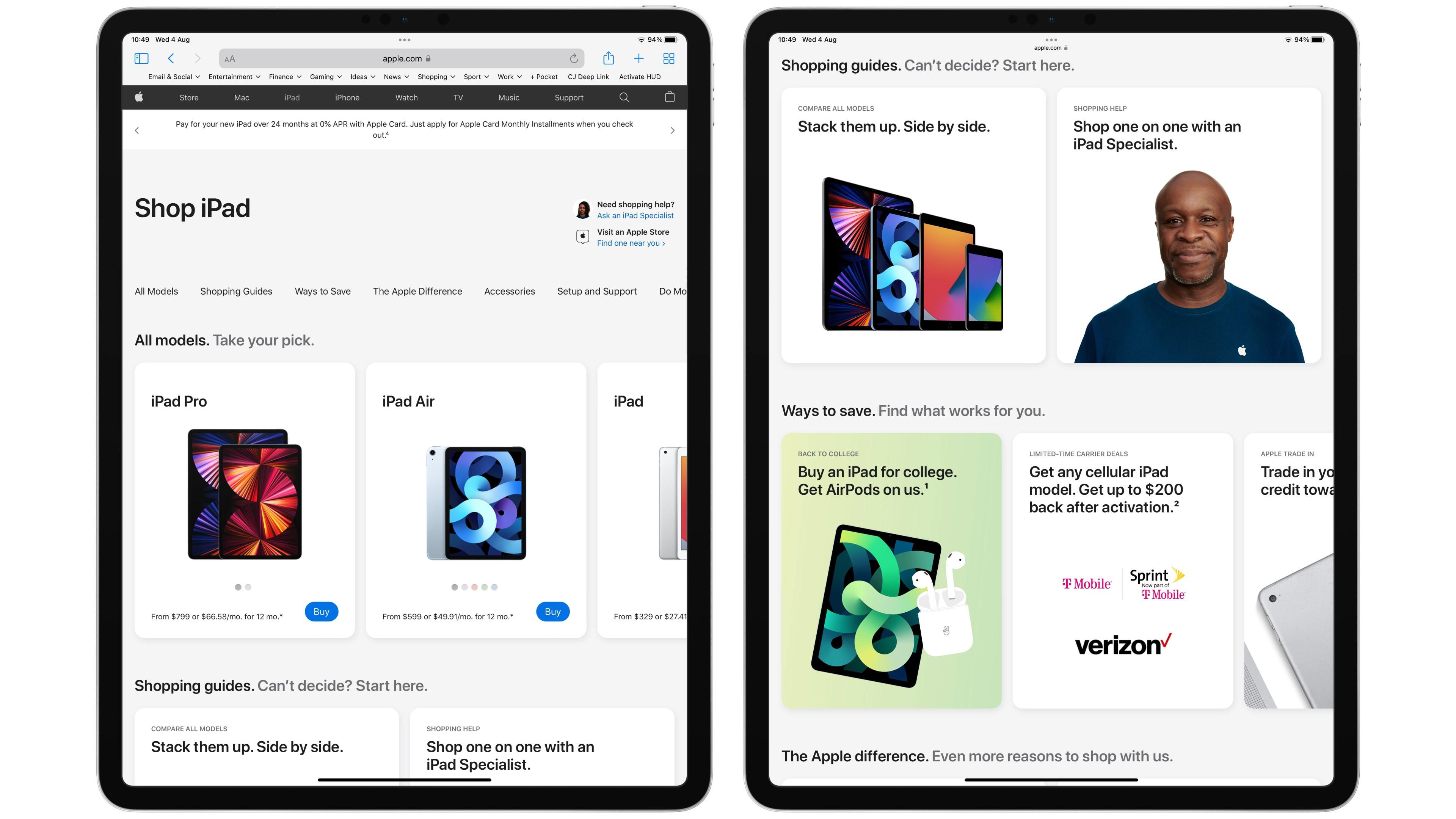 Apple's online store gets a redesign