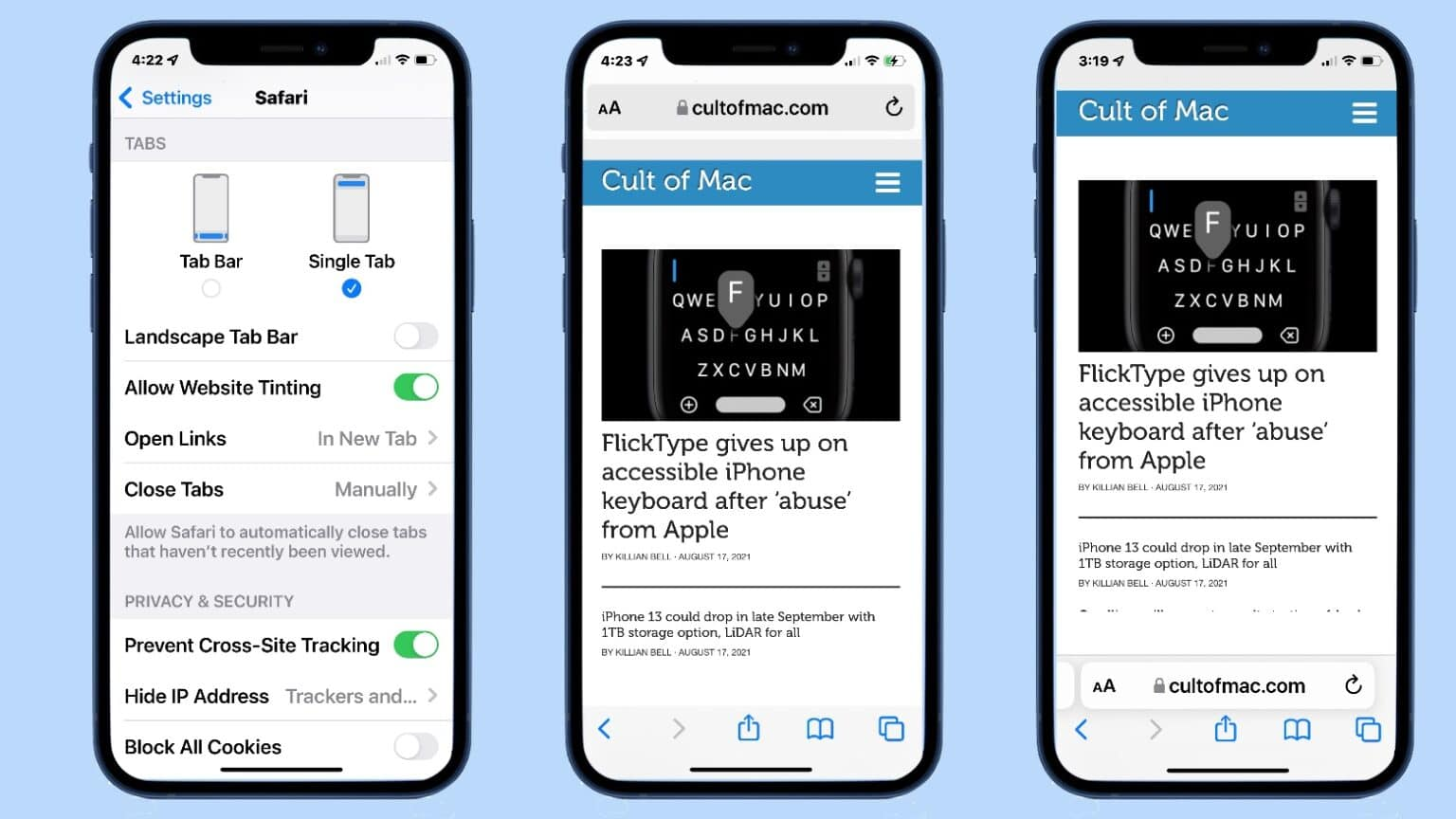 Latest iOS 15 beta lets users move Safari Address Bar to the top of the screen