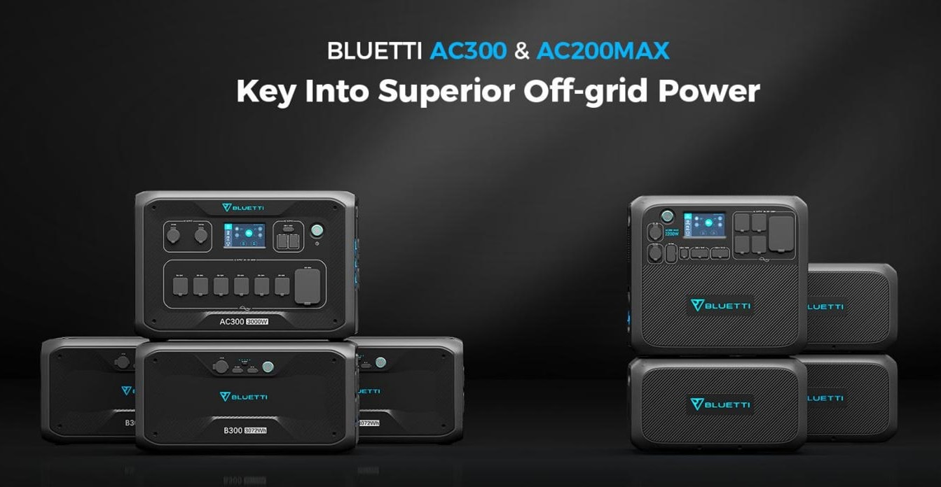 The AC300 and AC200 MAX are new portable power stations in Bluetti's lineup.
