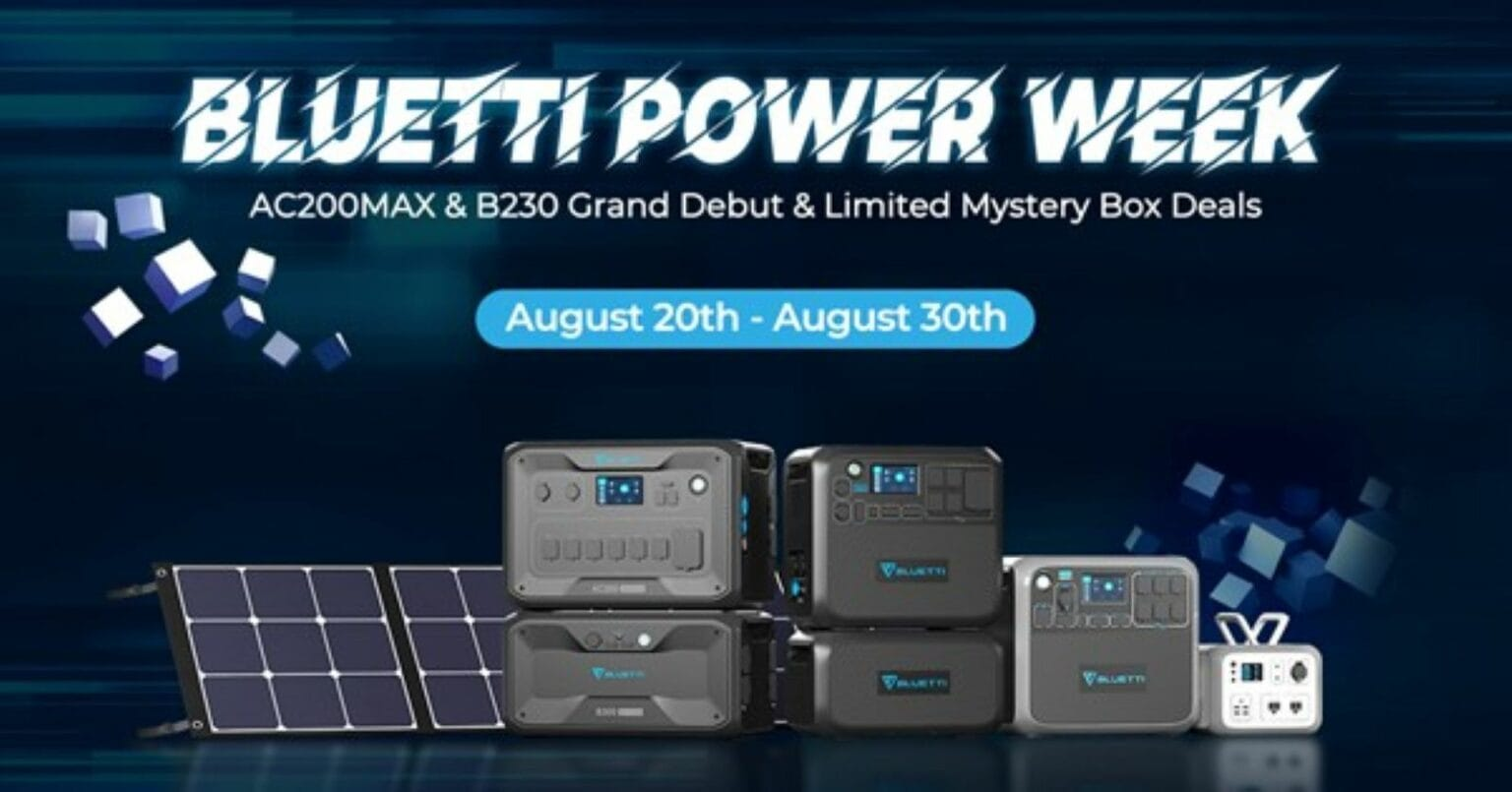 Bluetti Power Week sees the introduction of new products and special deals.