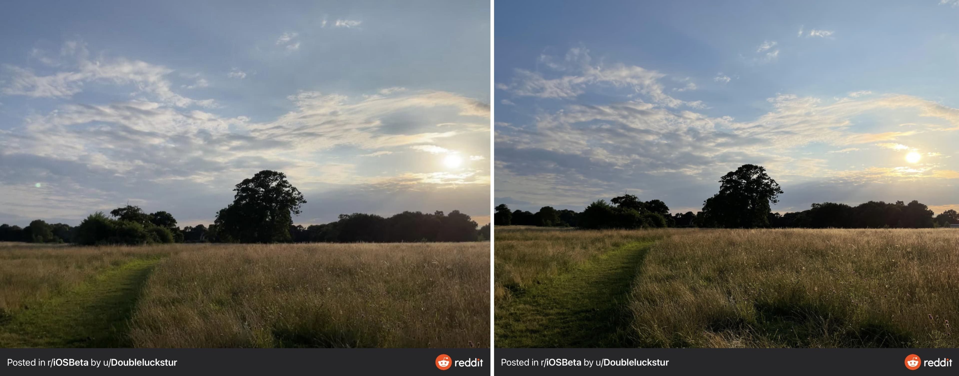 iOS 15 automatically removes lens flare in iPhone photos