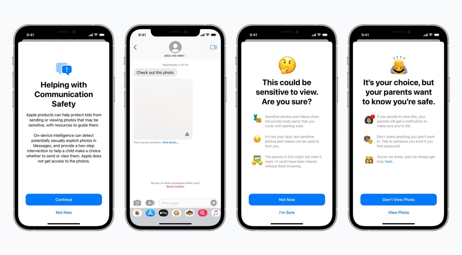 iPhone Messages app will warn parents if kids send, receive nude photos