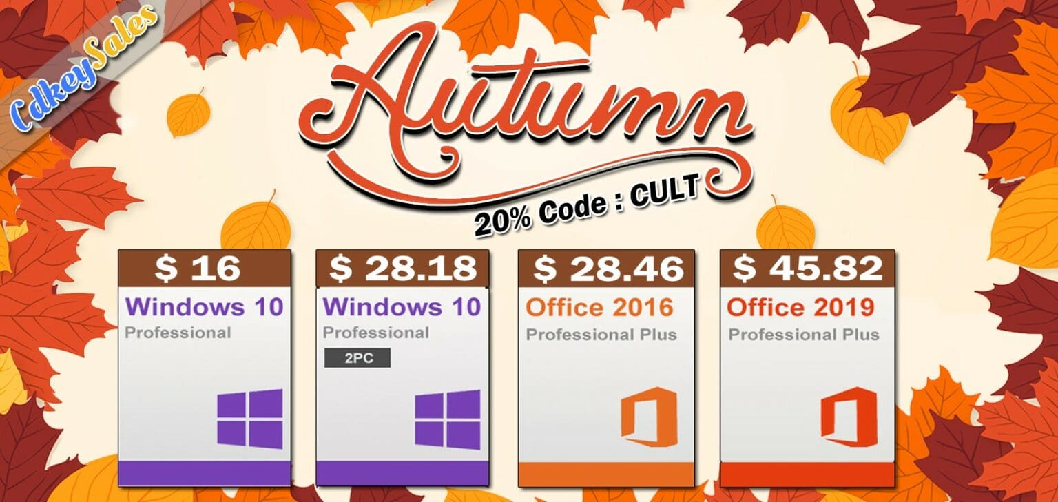 Use coupon code CULT to get 20% off in CdkeySales Autumn Sale.