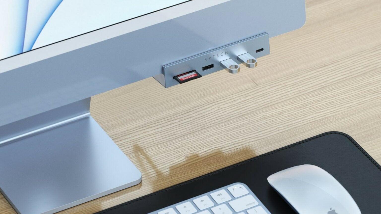 Satechi Clamp Hub for M1 iMac