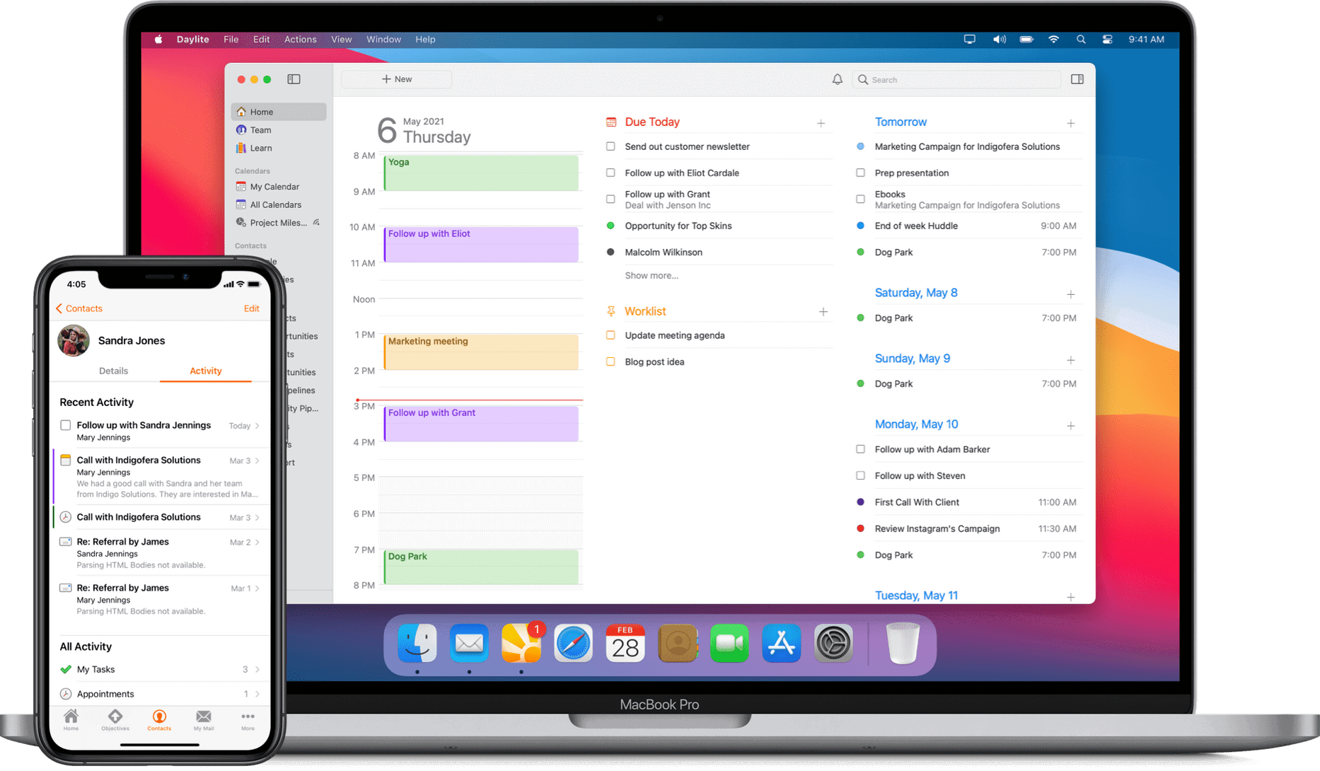 Daylite for Mac and iOS