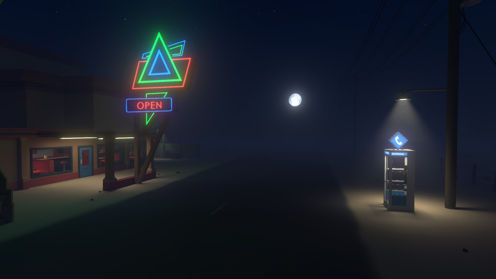 Discolored game roadside diner