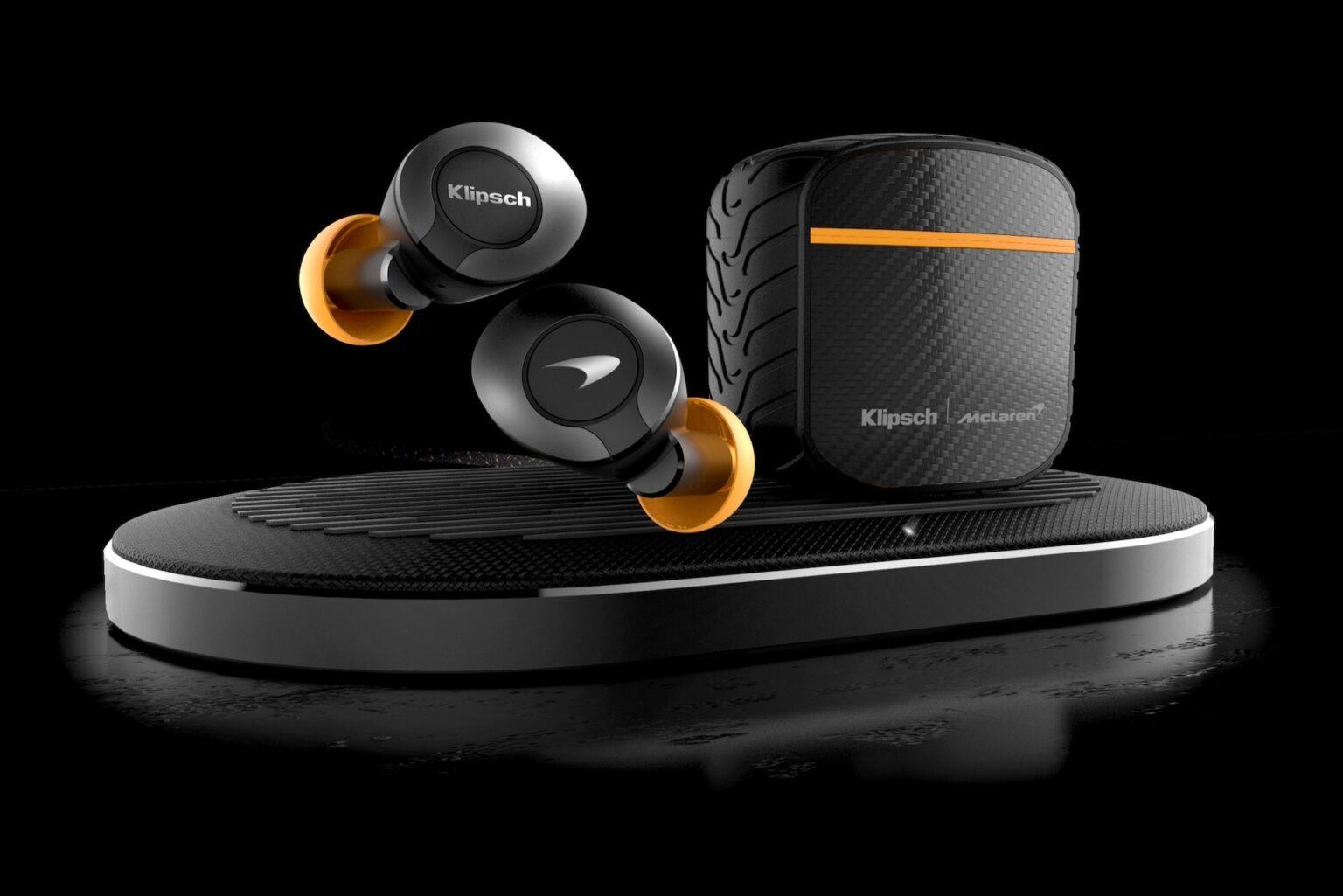 Klipsch T5 II True Wireless ANC McLaren Edition are some racy earphones.