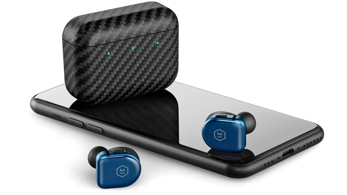 Sapphire glass construction and a kevlar charging case make the MW08 Sport earbids pretty tough.