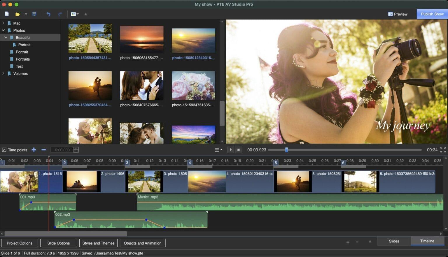 WnSoft's PTV AV Studio is powerful photo slideshow software for Mac.