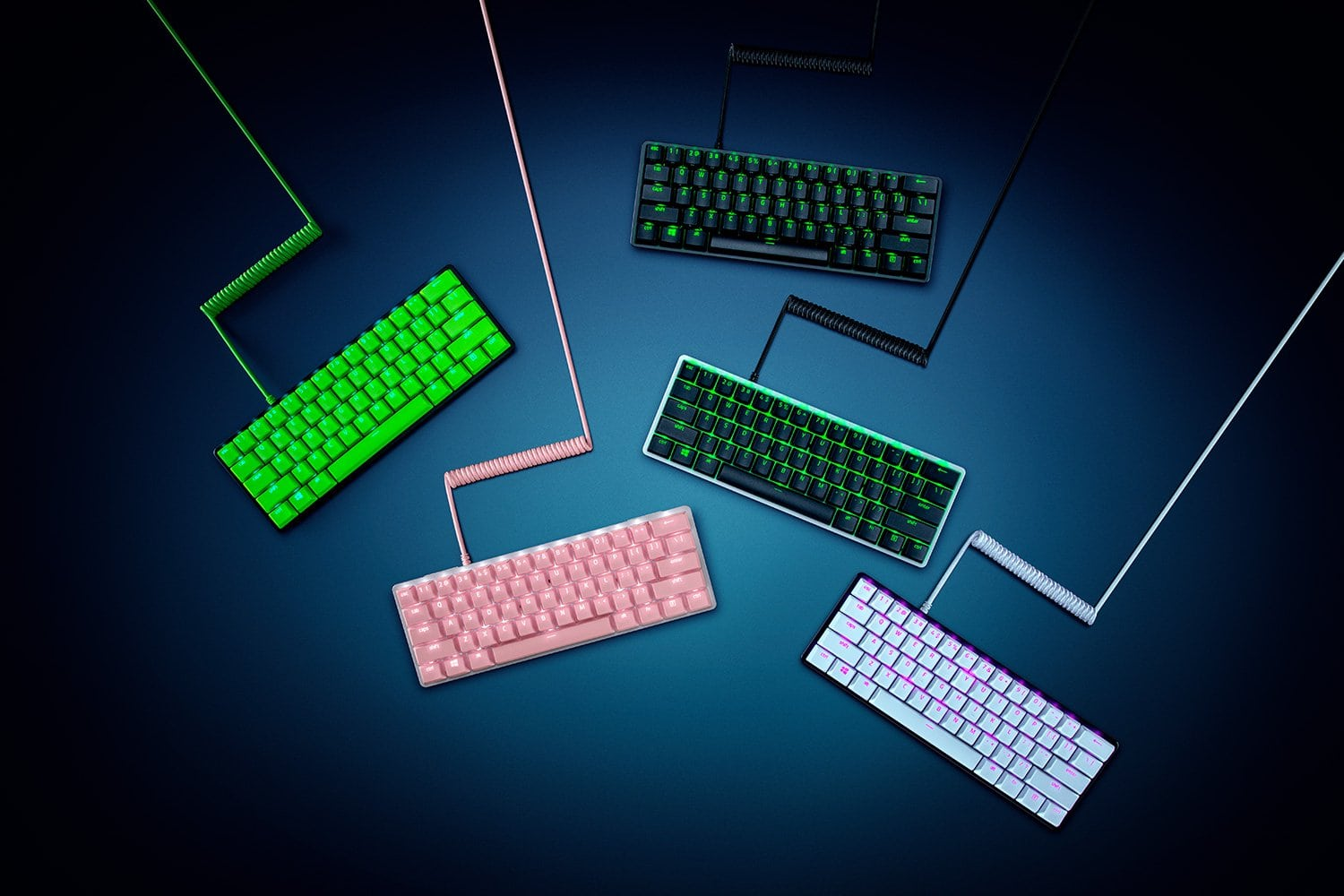 Razer's PBT Keycap + Coiled Cable Upgrade Set comes in multiple colors.
