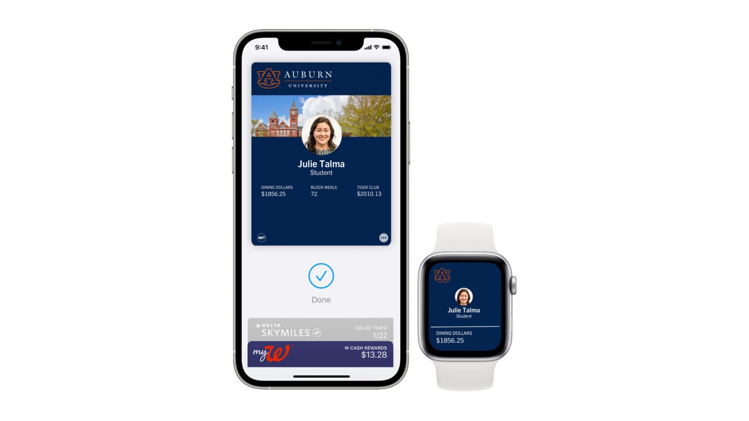 Student IDs on iPhone and Apple Watch