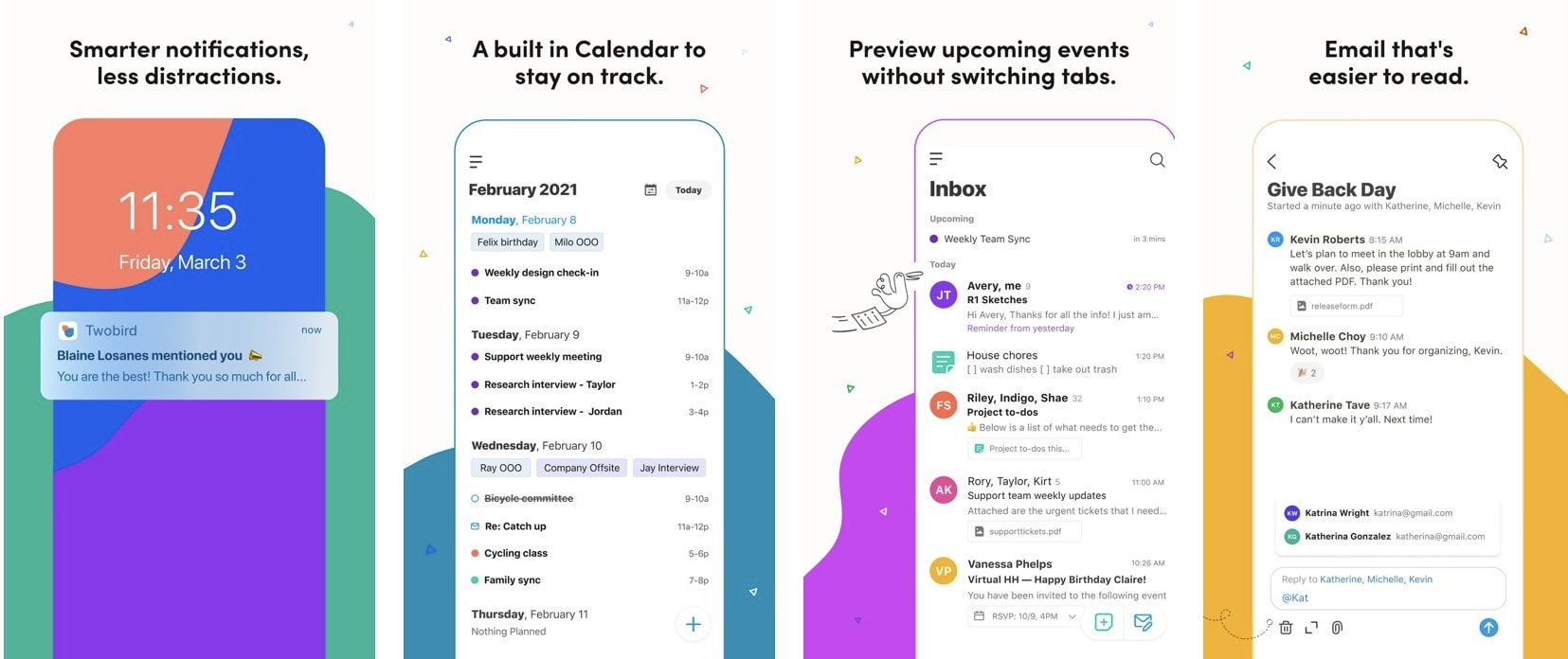 Twobird helps simplify email and note taking in a unified experience