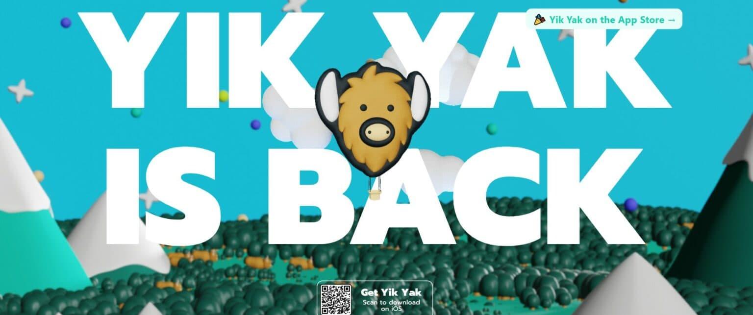 The anonymous, local Yik Yak social media app is resurrected.