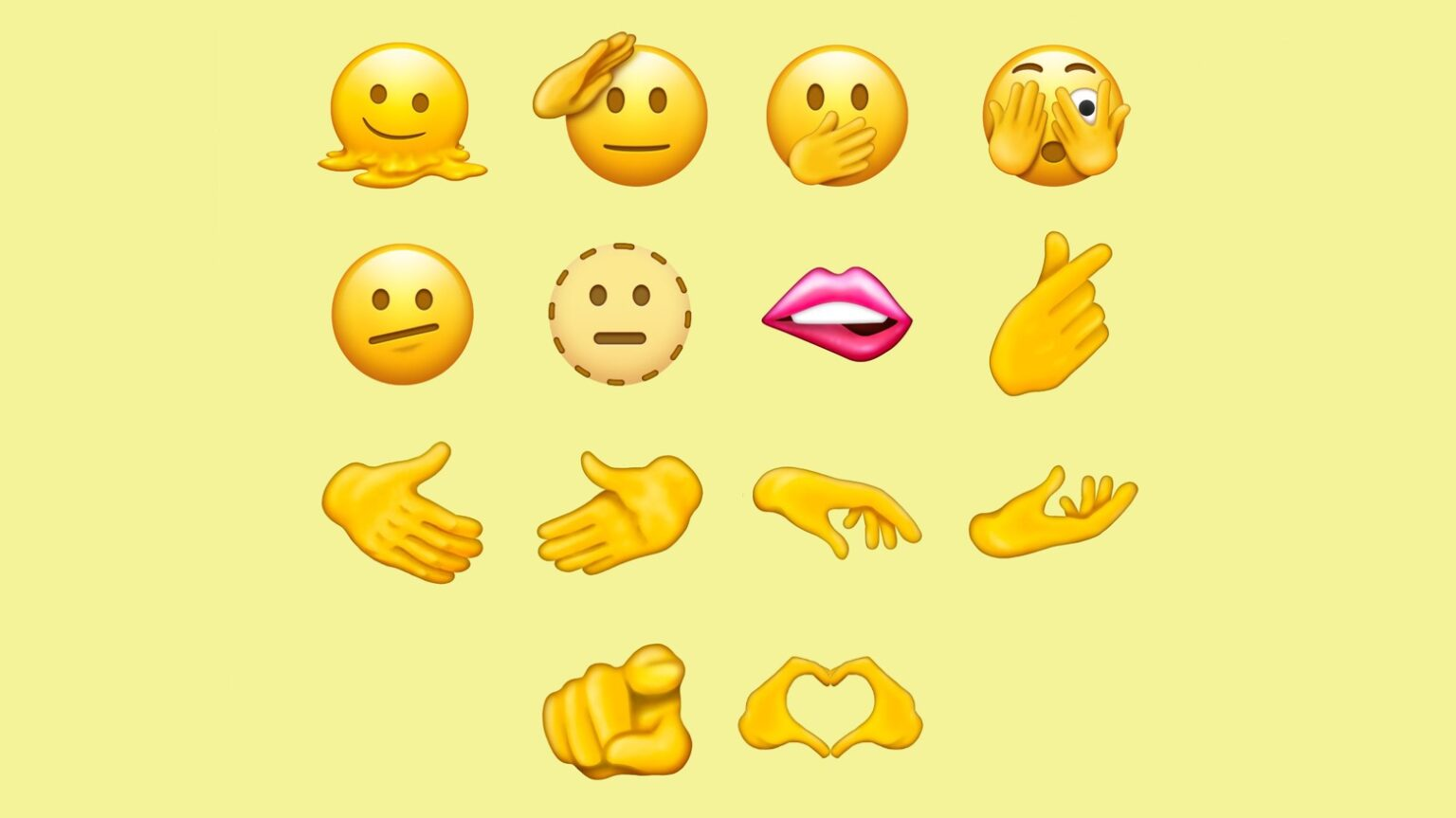 Next round of new emoji will let you salute, melt, gasp and point