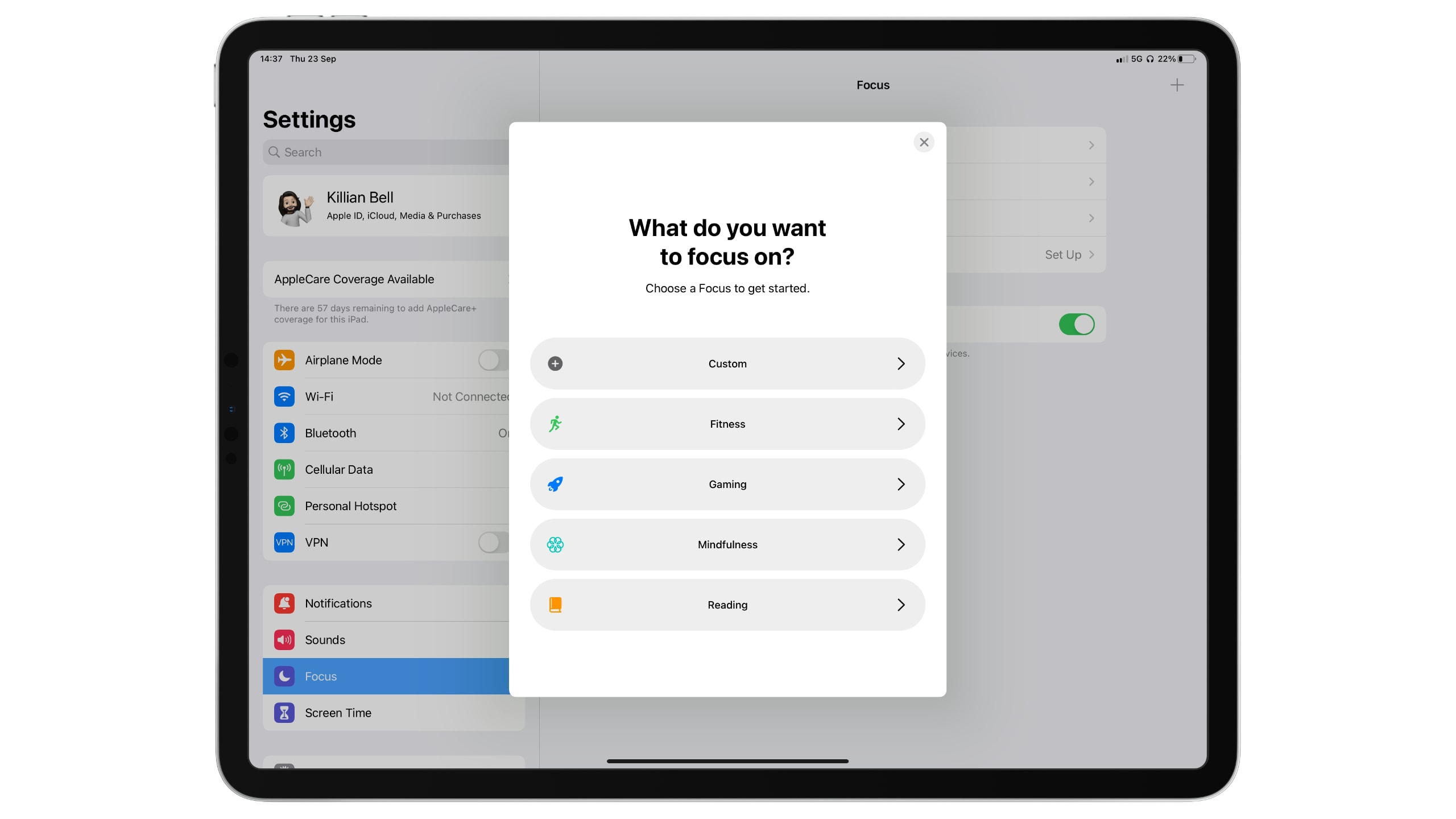Focus mode iPadOS 15: Only hear from certain apps or contacts when you really want to