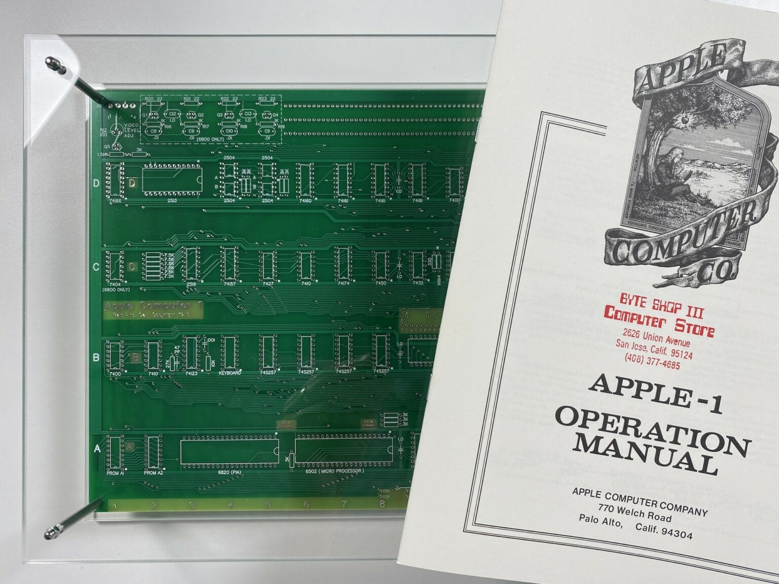 Did you know you can purchase a perfect recreation of the Apple-1 Operation Manual, along with a custom-made case to display it in?