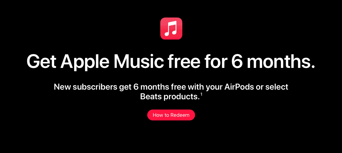 Apple Music AirPods promotion