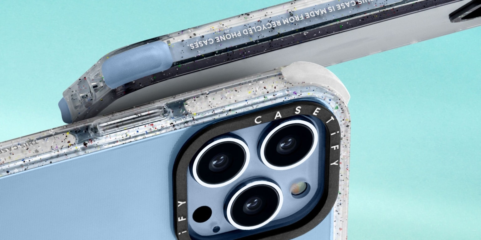 Casetify offers iPhone cases made from recycled and upcycled materials.