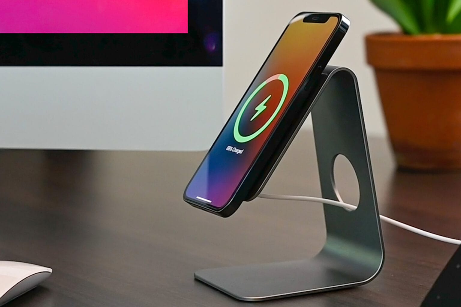 Get this rad Magsafe wireless charging stand on sale for $30!