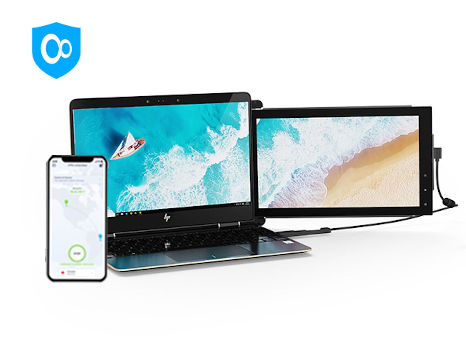 Turn your laptop into a triple screen display from anywhere, and get lifetime access to this award-winning VPN.