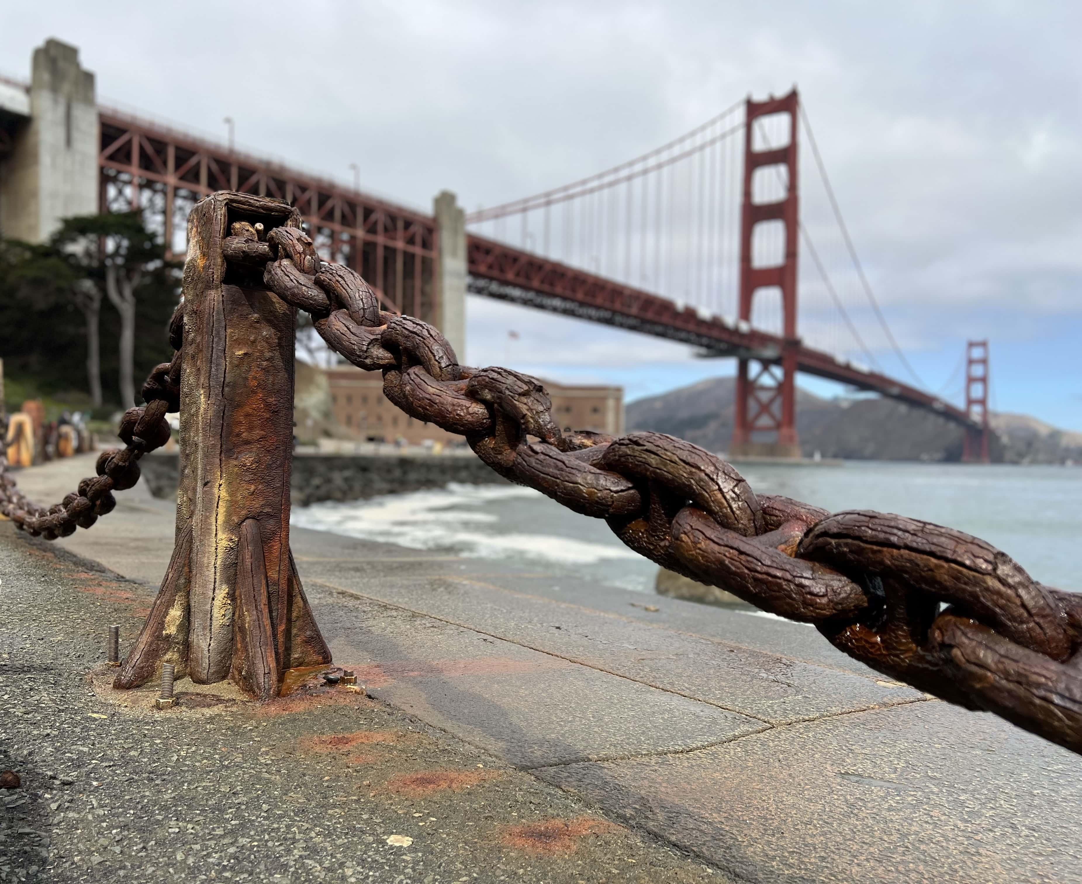 iPhone 13 Pro test shot of Golden Gate Bridge