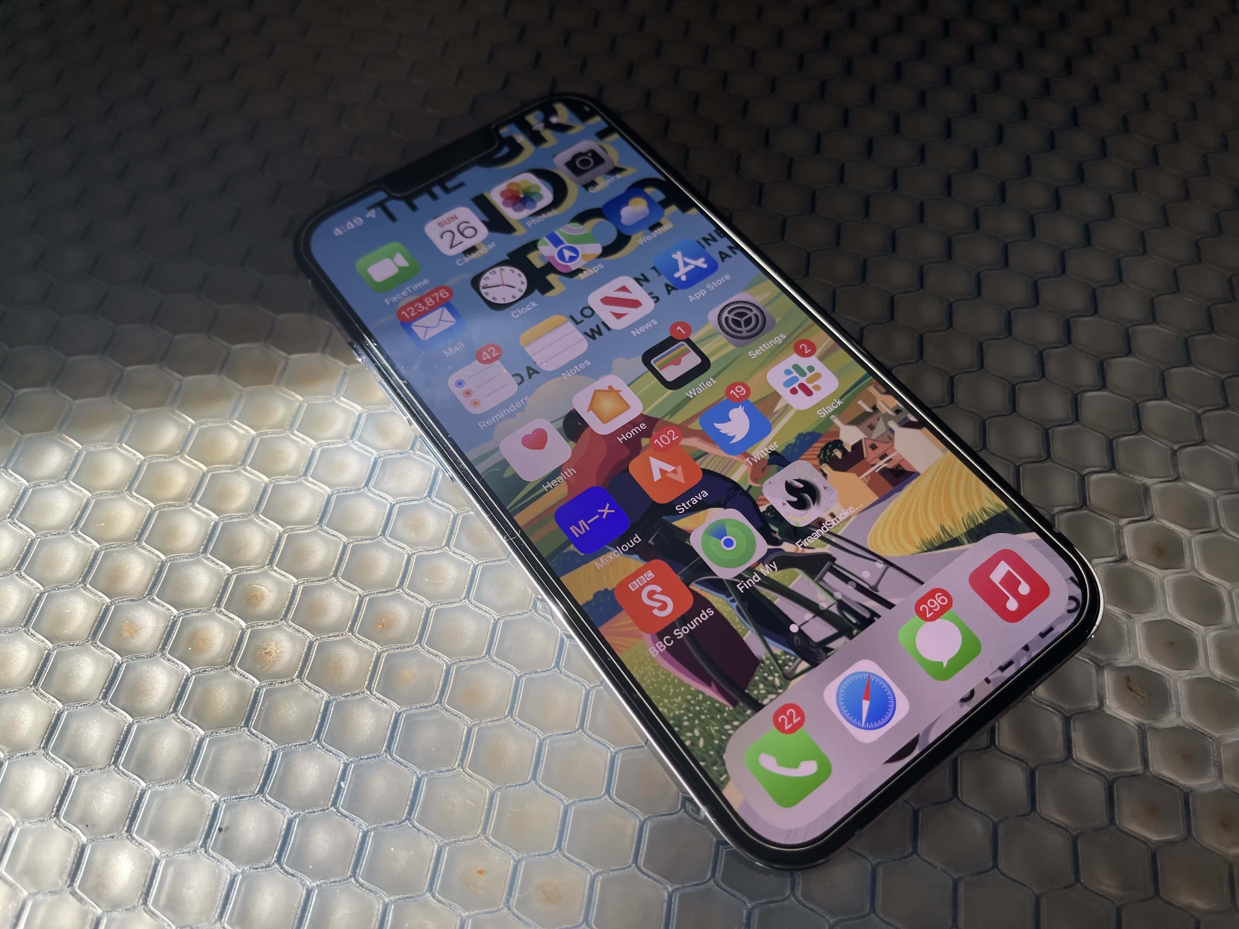 The iPhone 13 Pro's display is simply spectacular. It's gorgeous. It's great. I can't bear to look at lesser screens now