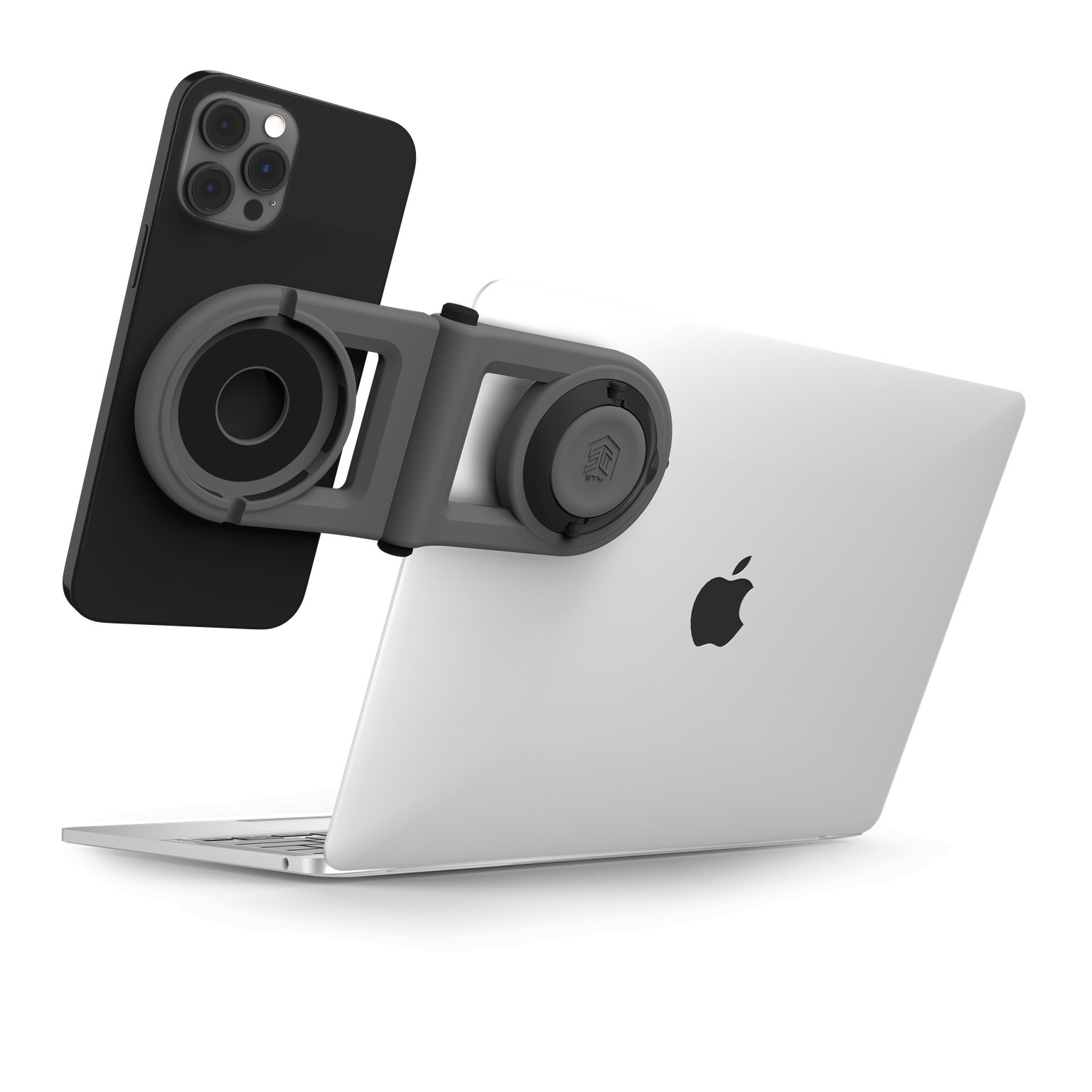 STM Goods MagArm lets you mount your iPhone on your laptop.
