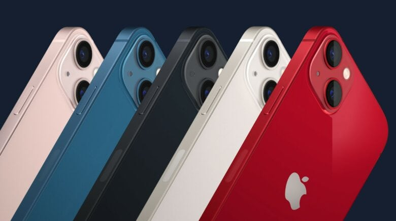 Apple California Streaming event: iPhone 13 comes in an array of five colors.