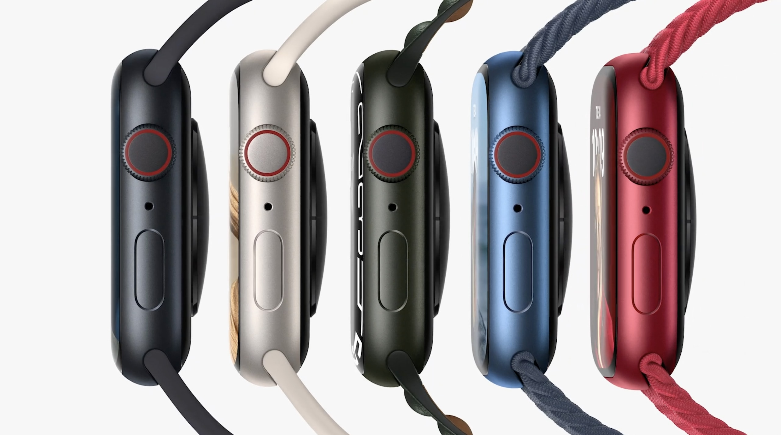 Apple Watch Series 7 color options are similar to Series 6