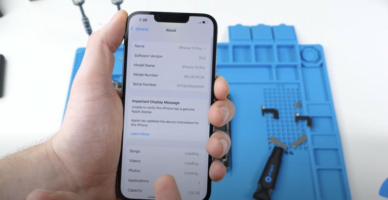 iPhone 13 display repairs break Face ID