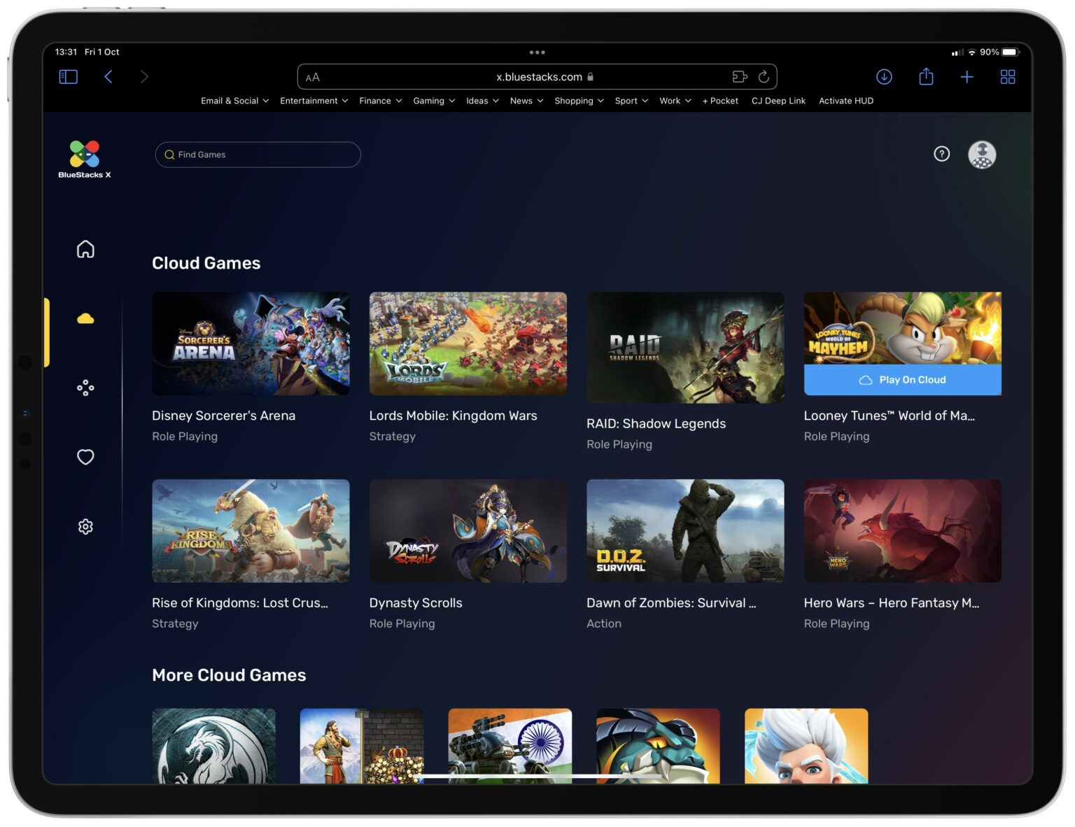 BlueStacks X brings Android games to your browser