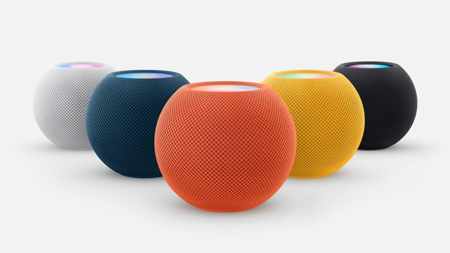 HomePod mini breaks out in a burst of colors
