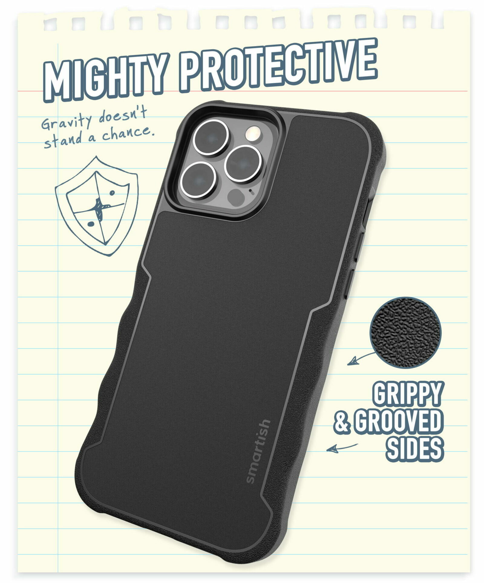 Gripzilla with MagSafe Armor iPhone 13 case giveaway: Grooved textured sides make this case ultra grippy.