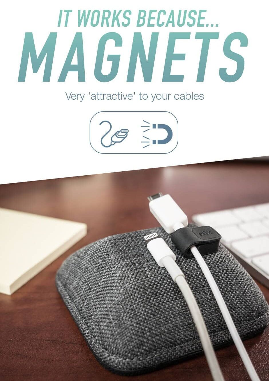 Smartish Cable Wrangler: This Magnetic Cord Organizer Keep your cables neatly in place with strong magnets.