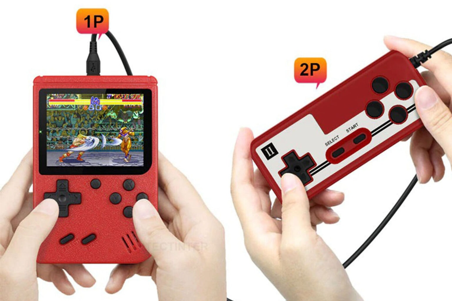 Grab this awesome handheld retro 8-bit game console.