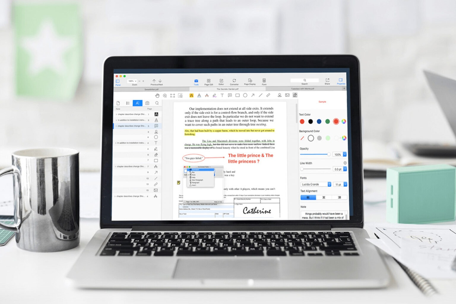 Become a PDF editing master with the PDF Reader Pro for Mac.