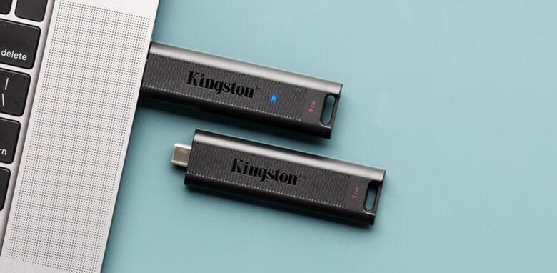 Kingston DataTraveler Max makes a fine MacBook accessory.