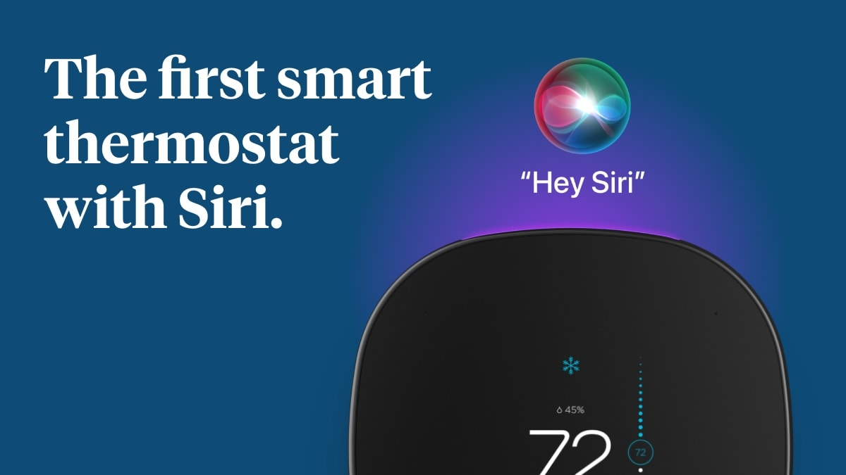 The Ecobee SmartThermostat with Voice Control is the first of many third-party devices to get Siri voice support.