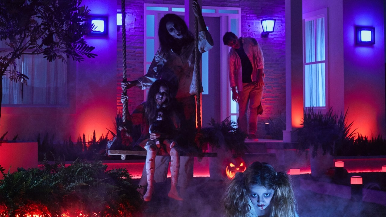 You can really scare trick-or-treaters with Philips Hue outdoor lighting bundles.