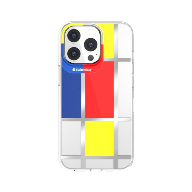 This SwitchEasy iPhone 13 case features work by the artist Mondrian.