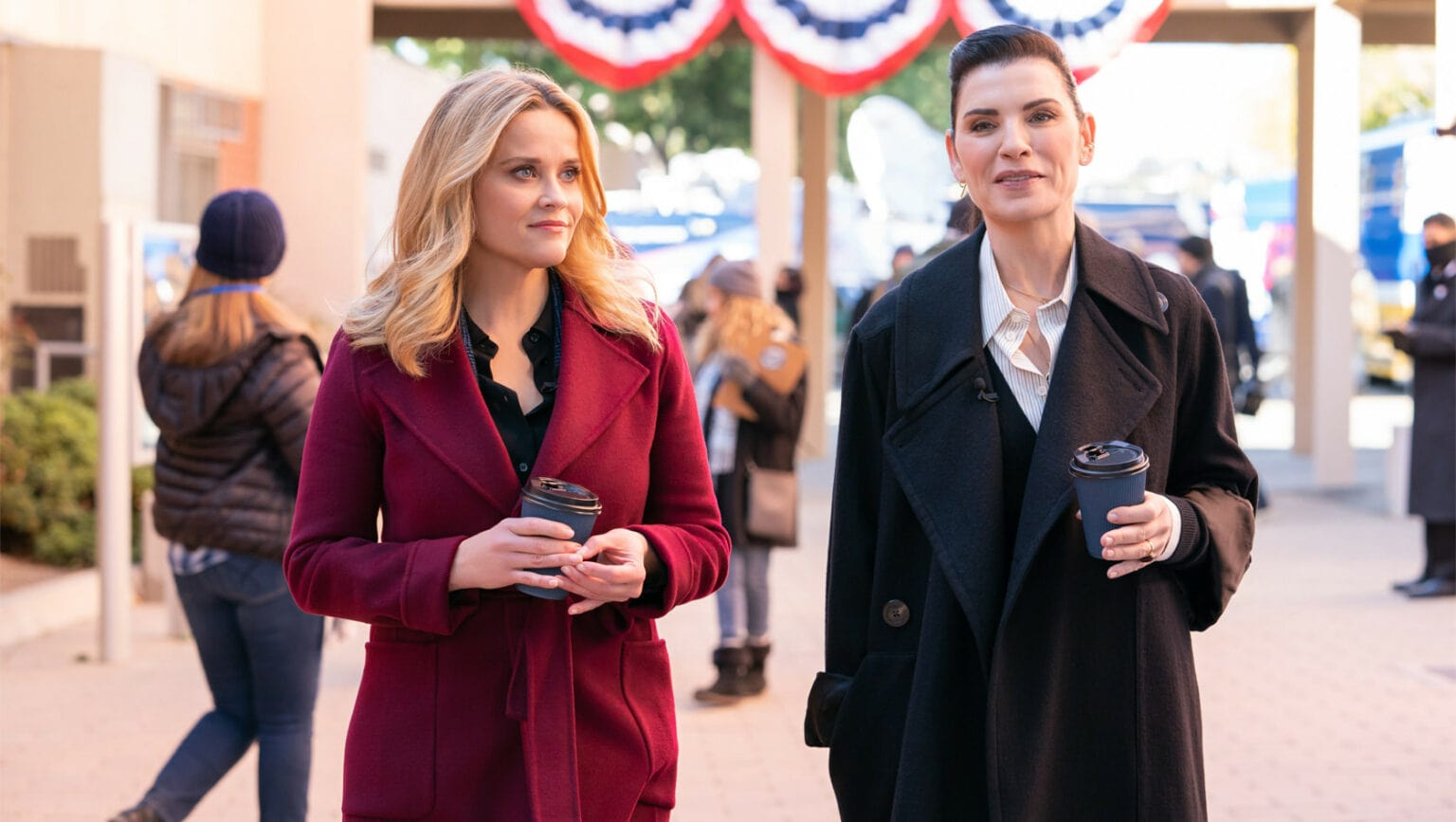 Reese Witherspoon and Julianna Margulies take each other for a ride on The Morning Show this week.