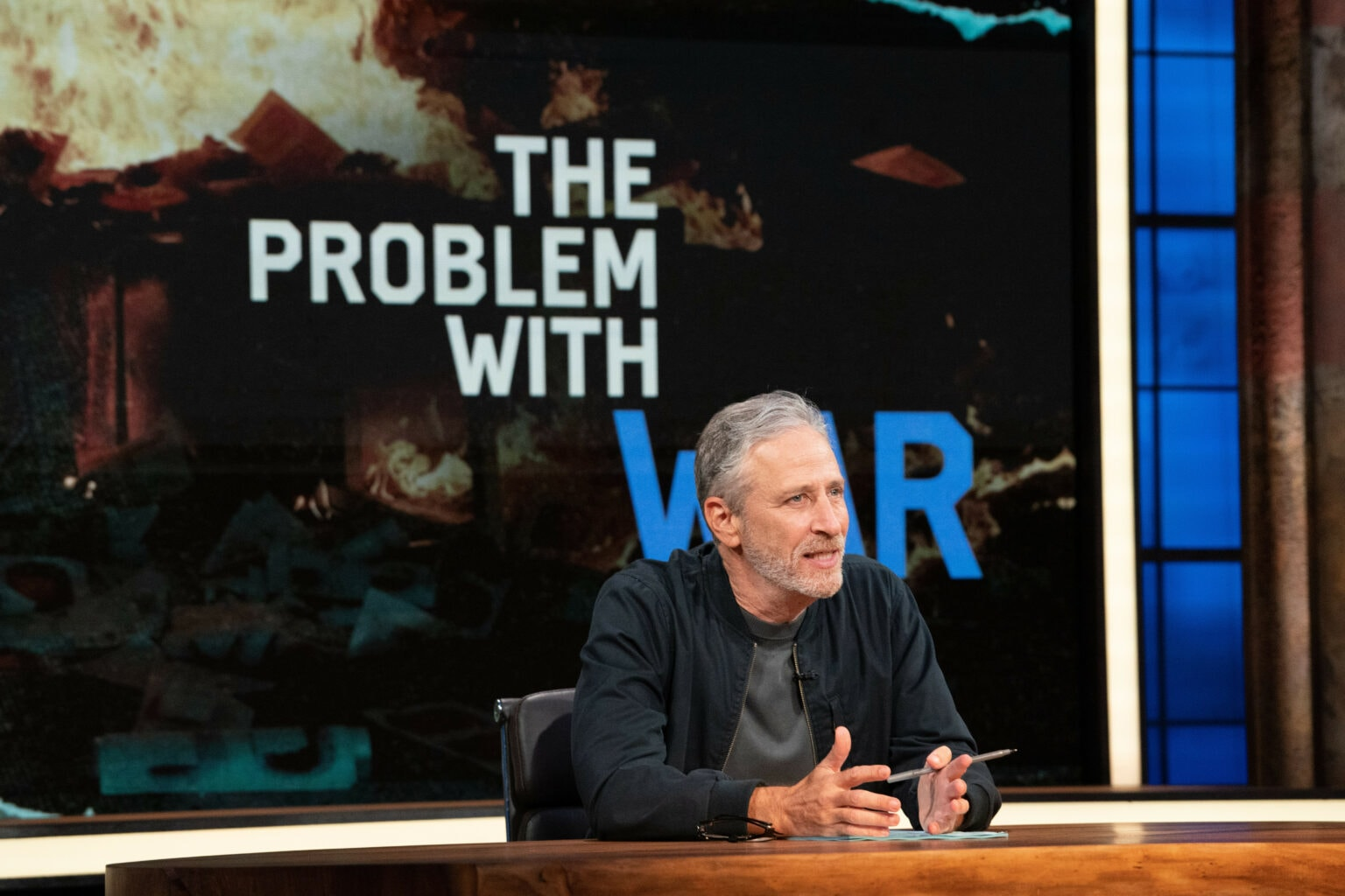 Jon Stewart is back in the anchor's chair on Apple TV+ show