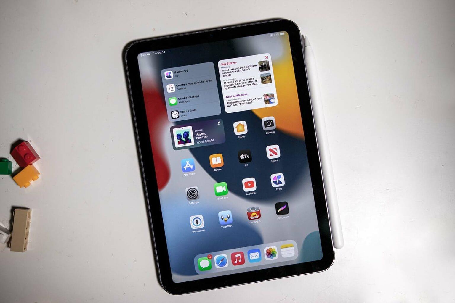 iPad mini on table