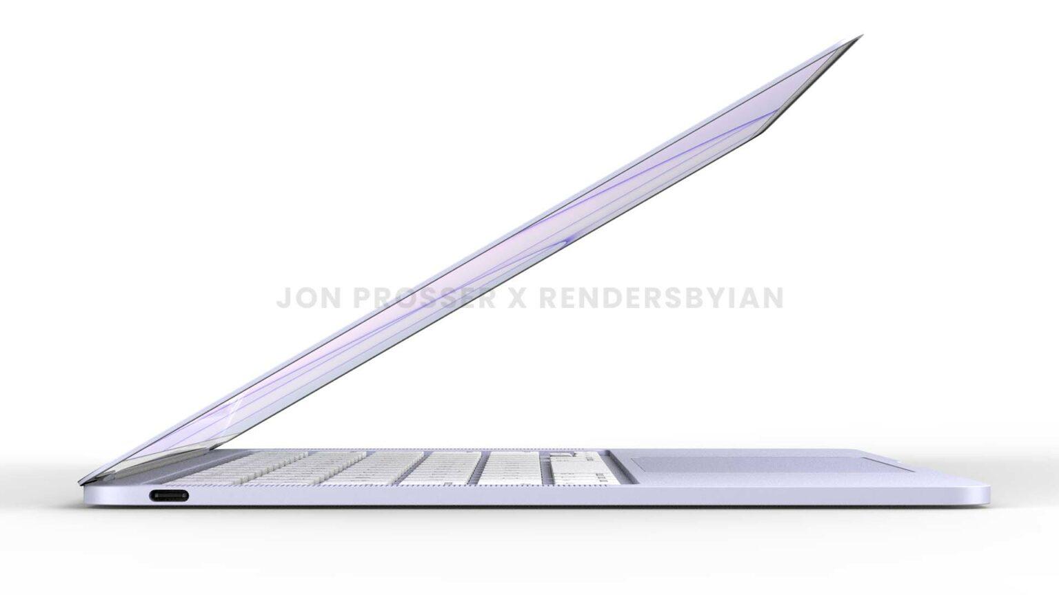 2022 MacBook Air render